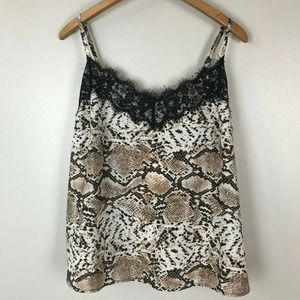 Outrageous Fortune Snake Printed Lace Trim Cami